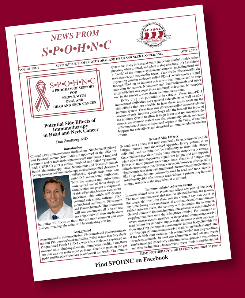 SPOHNC   Support For People with Oral, Head and Neck Cancer